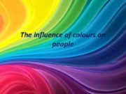 The influence of colours on people Red