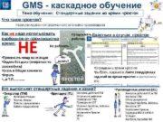 GMS — каскадное обучение Тема обучения Стандартные задания