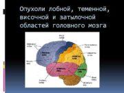 Опухоли лобной теменной височной и затылочной областей головного