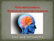 Чувствительность Патология чувствительности Д м н проф