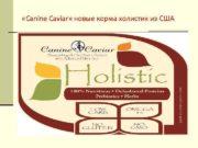 Canine Caviar новые корма холистик из США