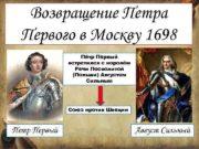 Возвращение Петра Первого в Москву 1698 Пётр Первый
