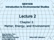 1 GEN1030 Introduction to Environmental Studies Lecture 2