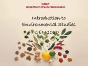 KIMEP Department of General Education Introduction to Environmental