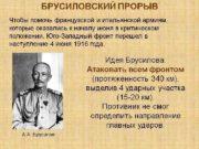 Брусиловский прорыв Луцкий прорыв 4 -я Галицийская битва