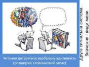 Друга сигнальна система Значення і види мови Читання