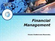 Management and business department Financial Management Oksana Vladimirovna