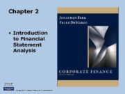 Chapter 2 Introduction to Financial Statement Analysis