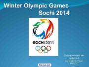 Winter Olympic Games Sochi 2014 5 klass net