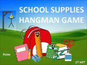 SCHOOL SUPPLIES HANGMAN GAME Rules START 1