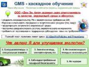 GMS — каскадное обучение Тема обучения Политика в