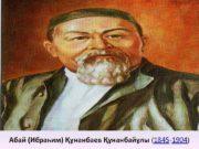 Абай Ибраһим Құнанбаев Құнанбайұлы 1845 -1904 Абайдың