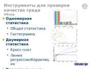 Одномерная статистика  Общая статистика  Гистограмма Двумерная