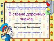 Муниципальное бюджетное дошкольное образовательное учреждение №13 детский сад