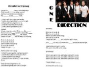 Live while we re young Hey girl I m ____