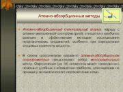 Атомно-абсорбционные методы n Атомно-абсорбционный спектральный анализ наряду с