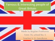 Famous interesting people of Great Britain Made