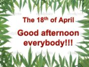 th 18 The 31 st of March of