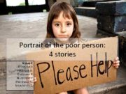 Portrait of the poor person 4 stories Group