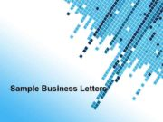Sample Business Letters Powerpoint Templates Page 1