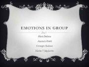 EMOTIONS IN GROUP Maria Bultseva Anastasia Konik Germogen