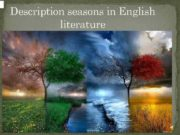 Description seasons in English literature Seasons