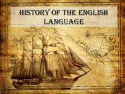 history of the english language Plan