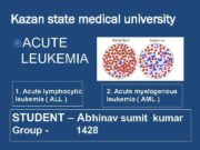 Kazan state medical university ACUTE LEUKEMIA 1 Acute