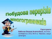 Підготувала Бабенко Оксана Анатоліївна вчитель математики ЗОШ