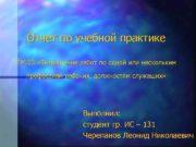 Отчет по учебной практике ПМ 03 Выполнение работ