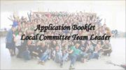 Application Booklet Local Committee Team Leader We