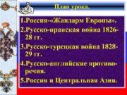 План урока 1 Россия- Жандарм Европы 2