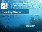 International Sakharov Environmental University Healthy Water Student 409