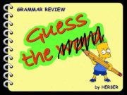 GRAMMAR REVIEW by HERBER Comparatives Bart