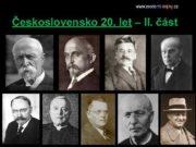 Československo 20 let II část Politické