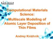 Computational Materials Science Multiscale Modeling of Atomic Layer