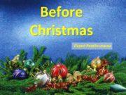 Before Christmas Перед Рождеством Презентация к уроку