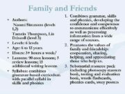 Family and Friends 1 Combines