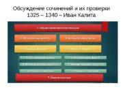 Обсуждение сочинений и их проверки 1325 – 1340