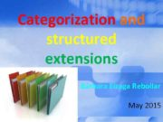Categorization and structured extensions Bárbara Eizaga Rebollar May