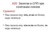 Презентация a25 zapyataya v spp pri sochetanii soyuzov
