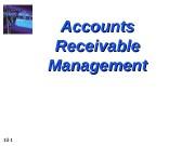 10 — 1 Accounts Receivable Management  10