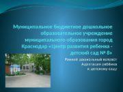 Муниципальное бюджетное дошкольное образовательное учреждение муниципального образования город