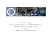Dzień adaptacyjny dla studentów I roku studiów dziennych