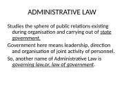 Презентация adm law 2