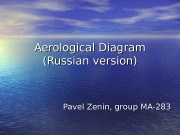 Aerological Diagram (Russian version) Pavel Zenin, group MA-283
