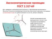 Аксонометрические проекции ГОСТ 2. 317 -69 Способ аксонометрического