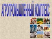 Агропромышленный комплекс (АПК) объединяет все отрасли хозяйства, принимающие