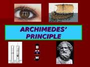Презентация archimedes-principle 1