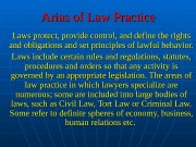Arias of Law Practice Laws protect, provide control,